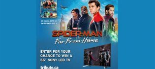 "Spider-Man Far from Home Sony 55"" Led TV Contest"