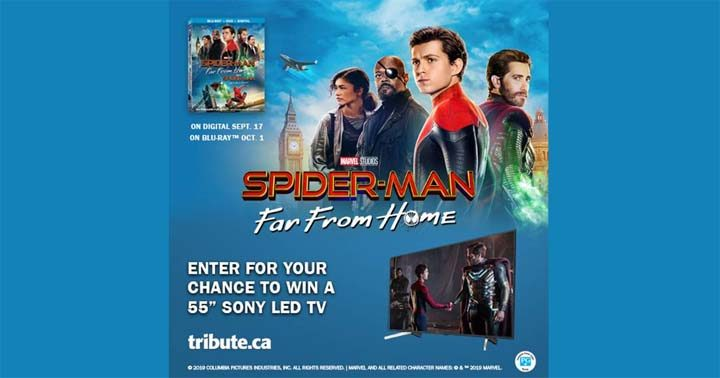 """Spider-Man Far from Home Sony 55"""" Led TV Contest"""