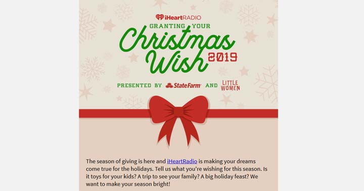 iHeartRadio Granting Your Christmas Wish Contest