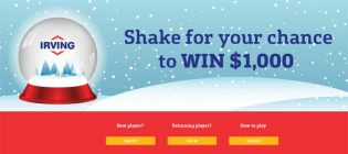 Irving Oil (IrvingFun.com) $1,000 a Day Giveaway Contest