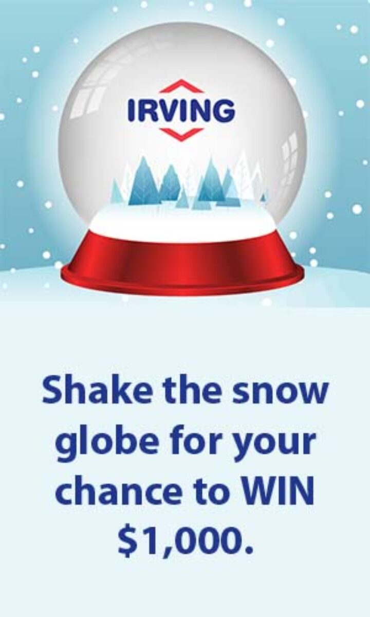 Irving Oil (IrvingFun.com) $1,000 a Day Giveaway Ad