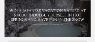 Andreea Bondoc Win a Japanese Vacation Sweepstakes