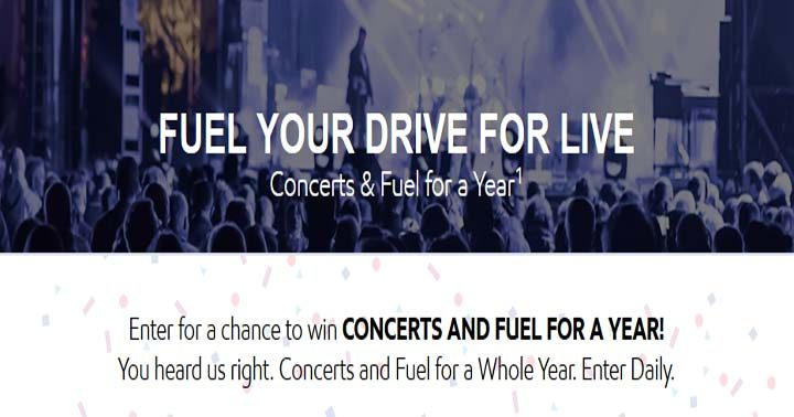 Exxon Mobil Fuel Your Drive for Live Sweepstakes