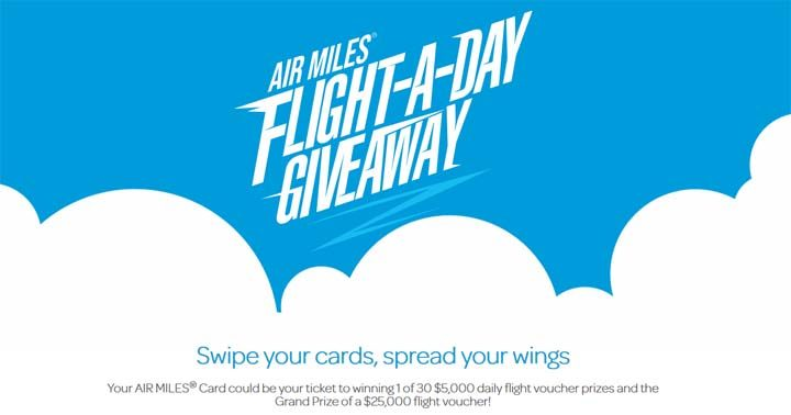 AIR MILES Flight-a-Day Giveaway Contest