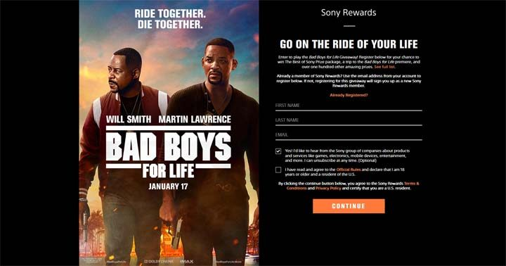 Bad Boys for Life Giveaway Sweepstakes