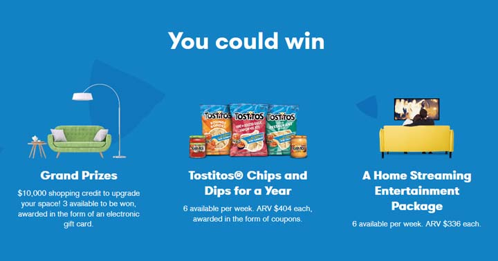 TOSTITOS Get Together to Win Contest Prizes