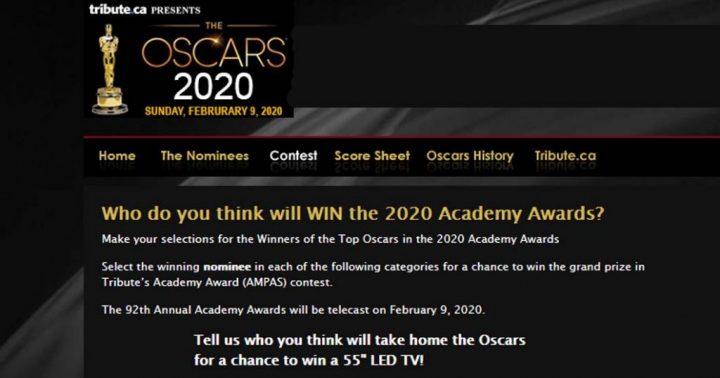 "Tribute.ca Oscars Contest Win a 55"" TV"