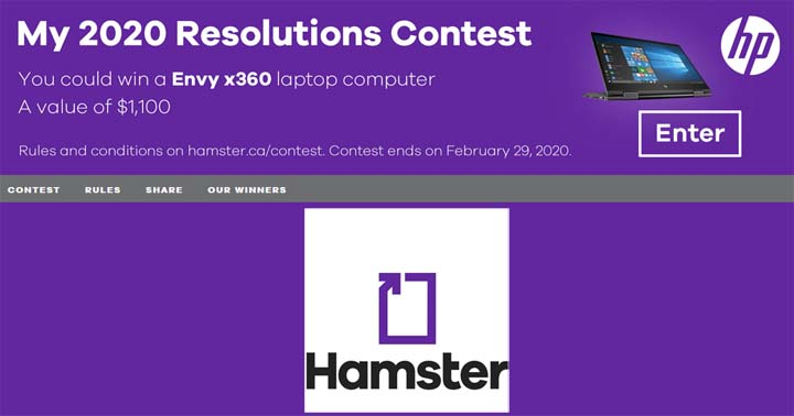 Hamster My 2020 Resolutions Contest