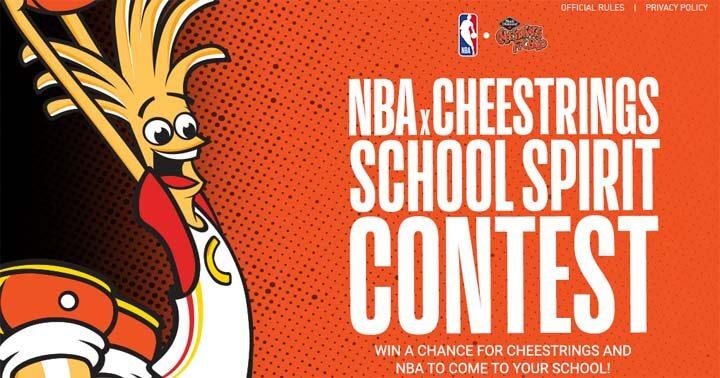 Cheestrings and NBA School Spirit Contest