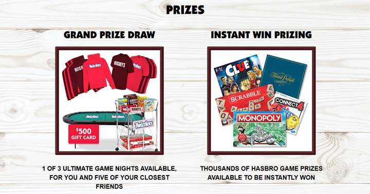 Hershey's Ultimate Game Night Prizes