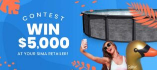 Sima Pools & Spas Win $5,000 at your Sima dealer Contest