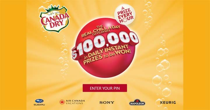 Canada Dry Real Chill a Day Giveaway Contest