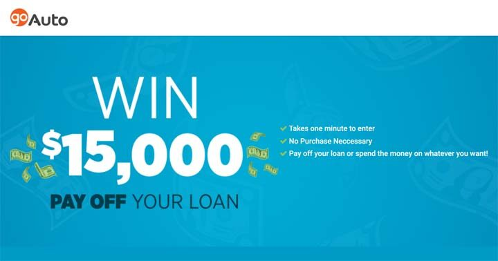 Go Auto's Pay Off Your Loan $15K Contest
