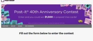 Hamster Post-it 40th Anniversary Contest