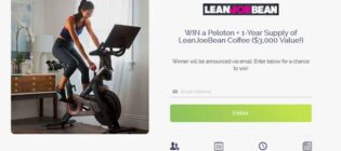 Lean Joe Bean Win a Peloton Workouts Bike Sweepstakes