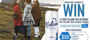 Molson Ultra Fogo Island Getaway Contest