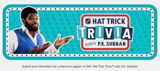NHL Hat Trick Trivia Contest