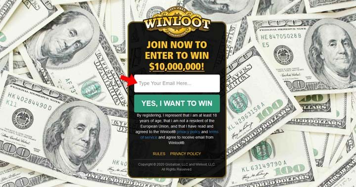 WINLOOT Ten Million Dollar Sweepstakes