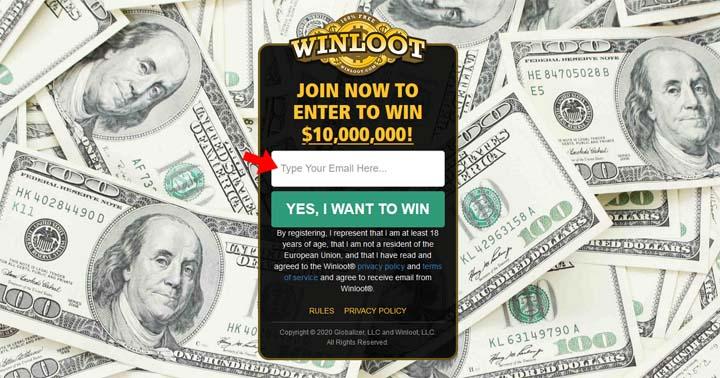 WINLOOT Ten Million Dollar Sweepstakes