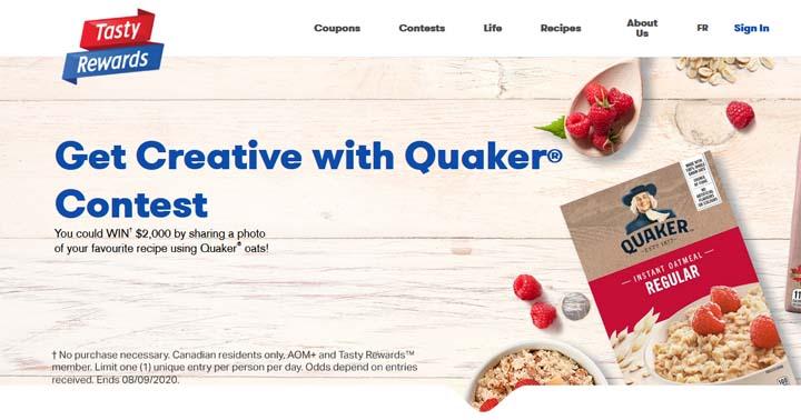Tasty Rewards Get Creative with Quaker Contest