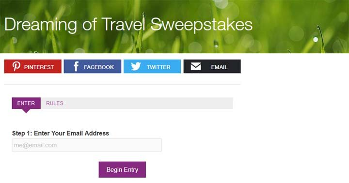 Travel Channel's Dreaming of Travel Sweepstakes