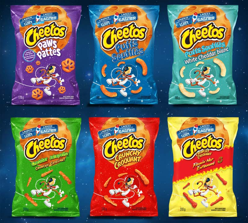 Cheetos Moon Mission Products
