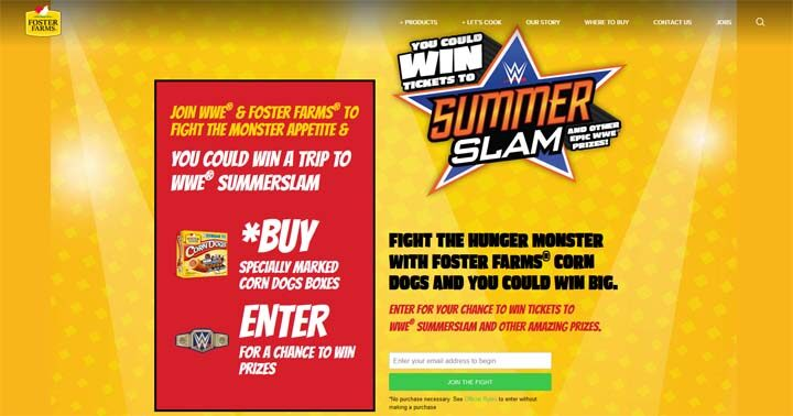Foster Farms and WWE Monster Appetite Promotion