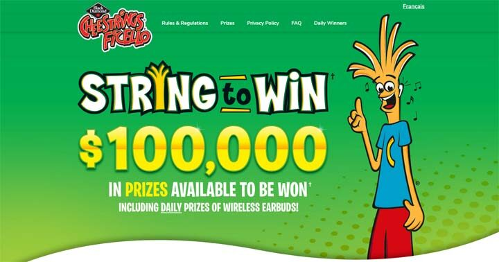 Black Diamond Cheestrings String to Win Contest