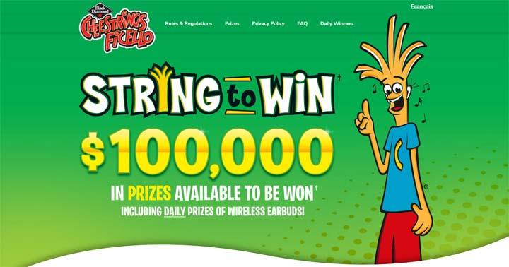 Black Diamond Cheestrings String to Win Contest