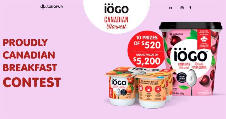 Win one year of Yogurt iögo Contest