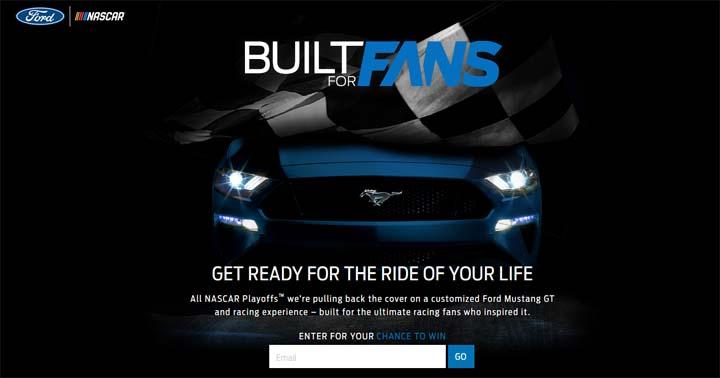 Ford Nascar Built for Fans Promotion