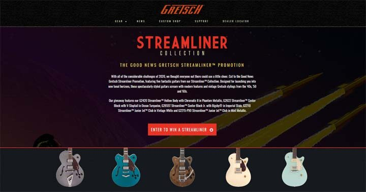 Good News Gretsch Streamliner Sweepstakes