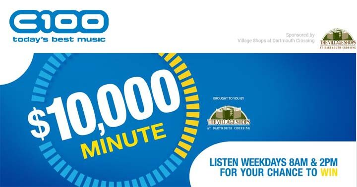 iHeartRadio C100 FM $10,000 Minute contest