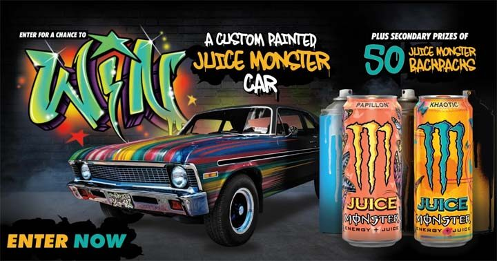 Monster Energy Chance to Win a Custom Painted Car Sweepstakes