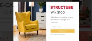 Structube Weekly $100 Gift Card Giveaway Contest