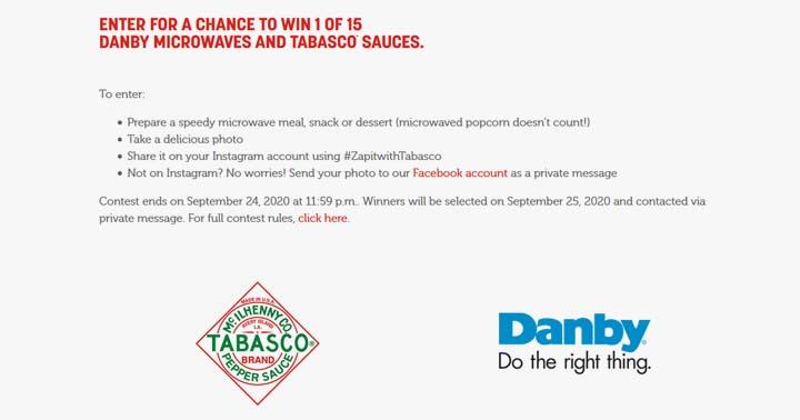 Zap it with Tabasco Contest