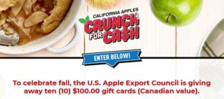 California Apples Crunch for Cash Contest