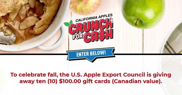 California Apples Crunch for Cash Contest