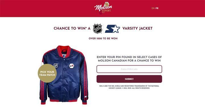 Molson NHL Starter Varsity Jacket Contest