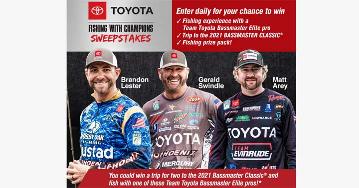 Toyota Fishing with Champions Sweepstakes