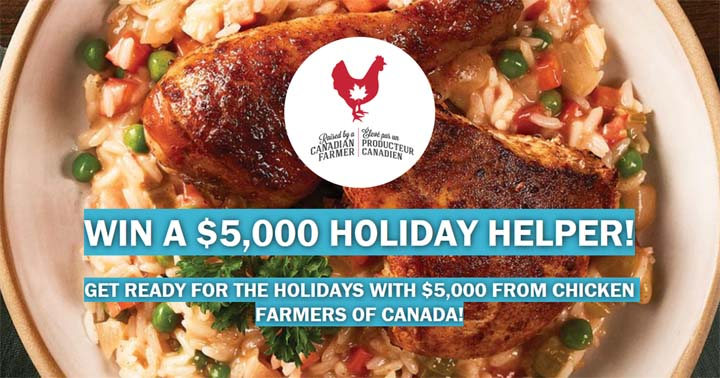 Chicken Farmers of Canada Win a $5,000 Holiday Helper Contest