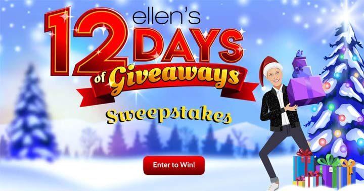 Ellen's 12 Days of Giveaways Sweepstakes