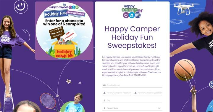 Happy Camper Holiday Fun Sweepstakes