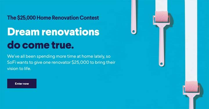 SoFi $25,000 Home Renovation Contest