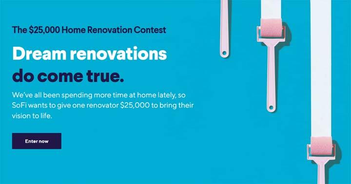 SoFi $25,000 Home Renovation Contest