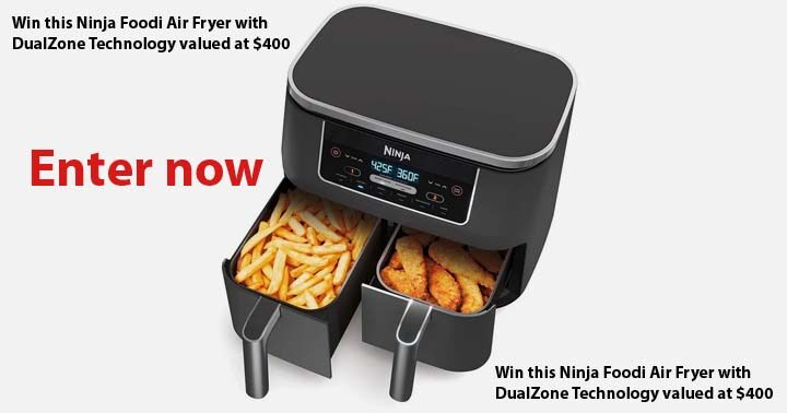 The Gate Magazine Ninja Foodi Dual Zone Air Fryer Giveaway
