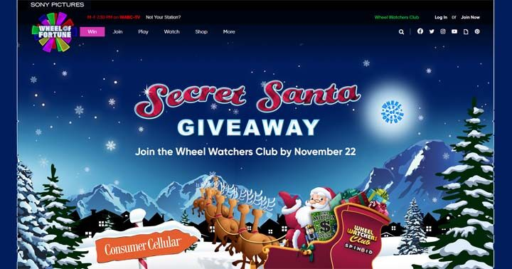 Wheel of Fortune's Secret Santa Holiday Giveaway