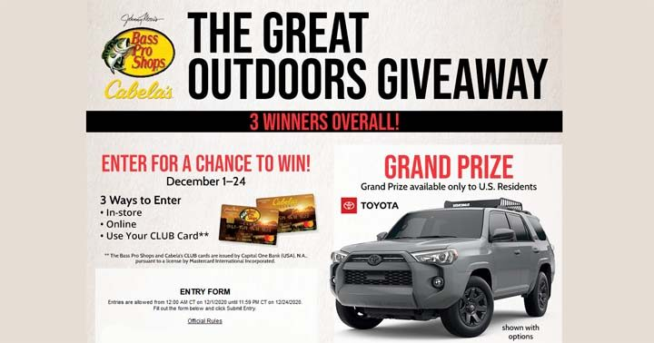 Bass Pro Shops & Cabela's The Great Outdoors Giveaway