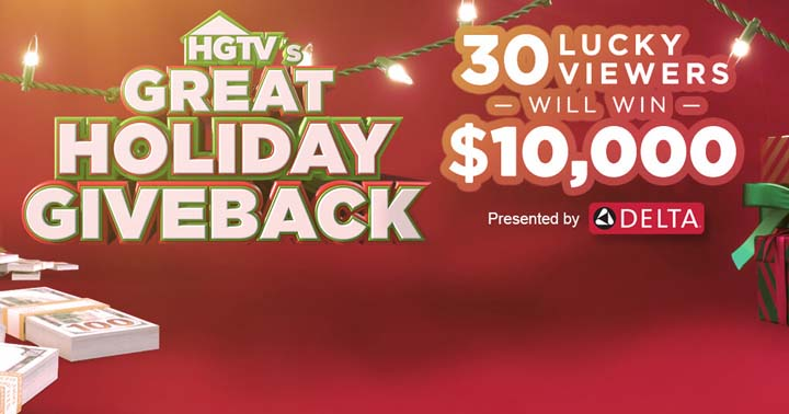 HGTV's Great Holiday Giveback Sweepstakes