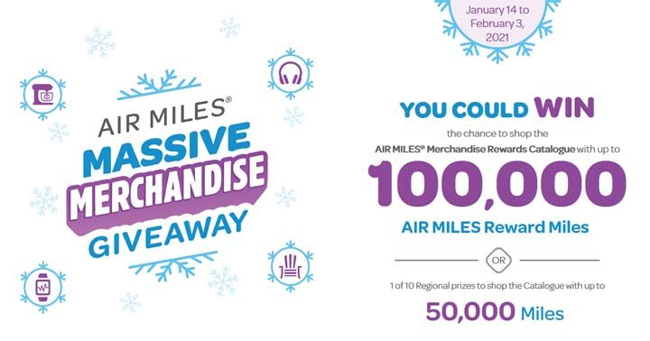 Air Miles Massive Merchandise Giveaway Contest
